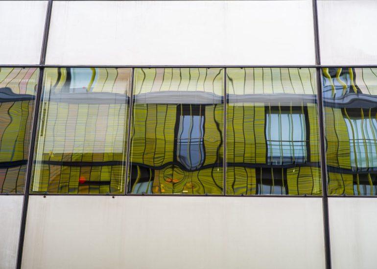 Photographe architecture paris batiment miroir
