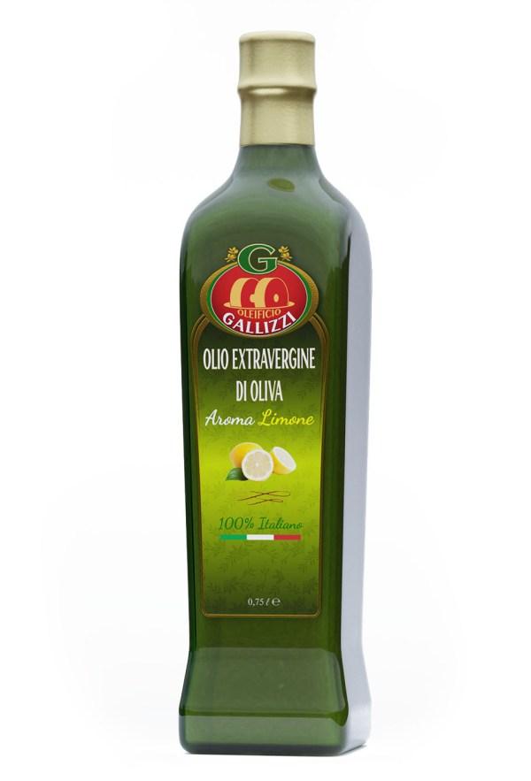 Bottiglia olio extravergine limone