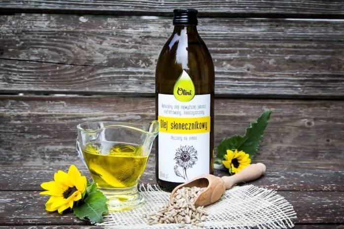 Olej słonecznikowy zimnotłoczony Olini