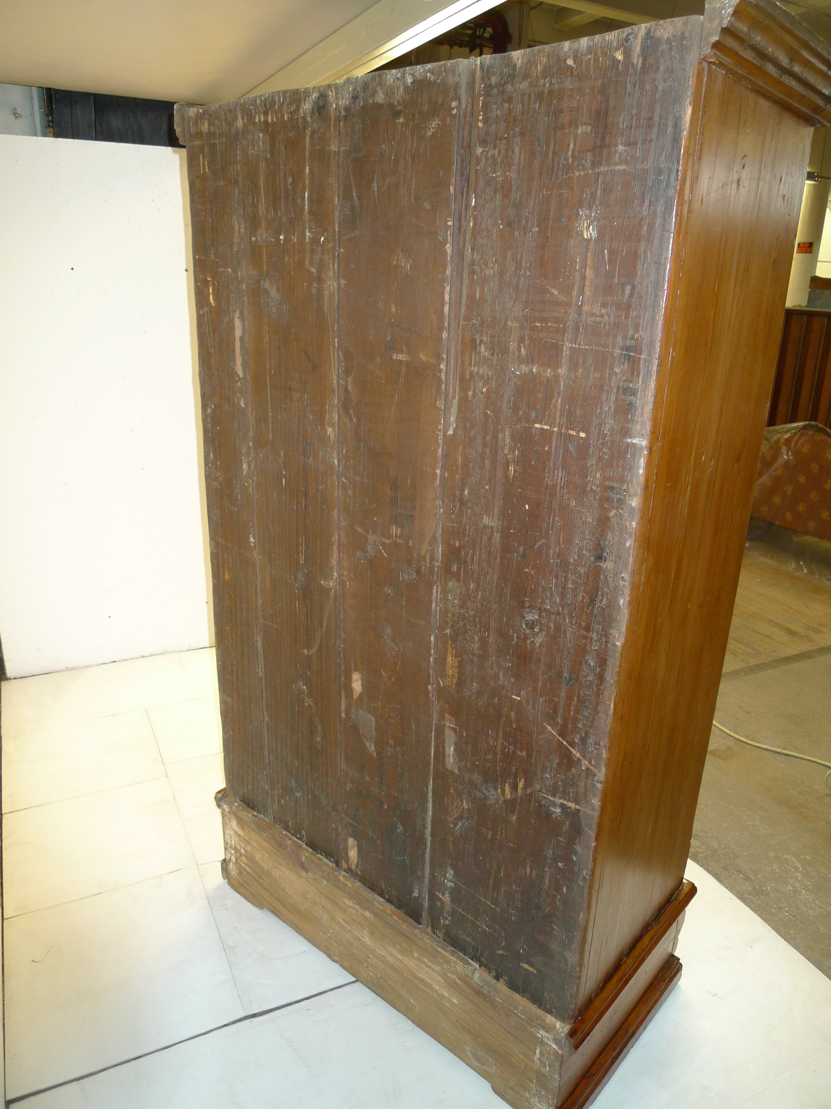 Antique Country Pine Armoire Wardrobe Provincial Wrought