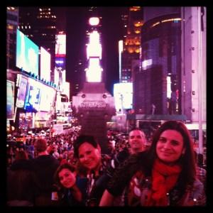 Nueva York, gradas en Times Square