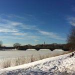 Boston, Río Charles congelado. Blue Monday.