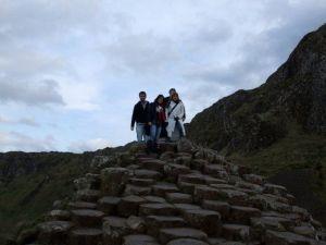 Irlanda, en la Calzada del gigante