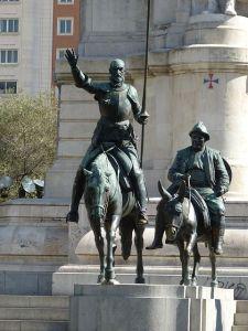 Don Quijote y Sancho, dos amantes del gazpacho.