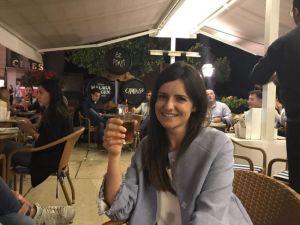 Pilar Cardila en el Pimpi, la inspiradora de este artículo