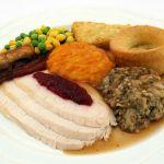 Típica presentación de un plato de Thanksgiving