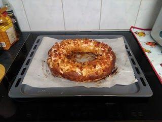 Roscón de Reyes al salir del horno