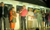 """Patrice Bourdin, président de """"Pastel en Bretagne"""" avec les autres présidents d'associations de Pastel"""