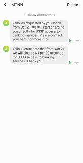 Mtn new ussd bank charges service