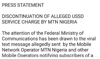 FG stops Mtn on ussd bank service charges