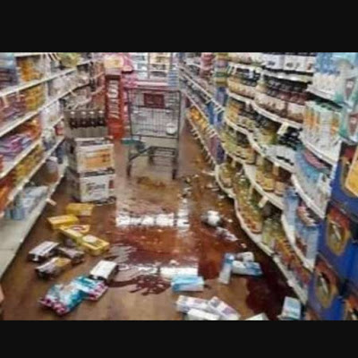 Supermarket destroyed