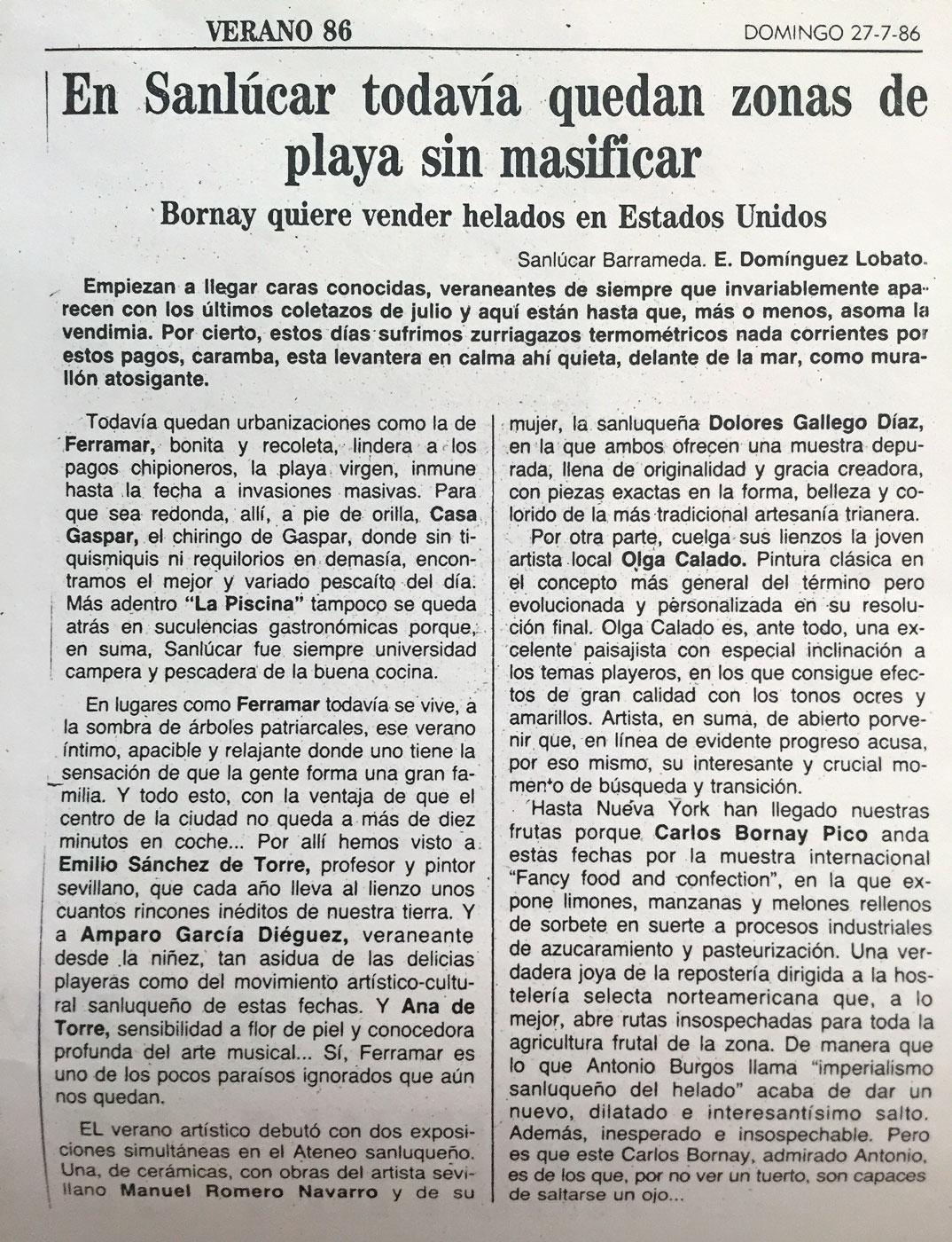 Olga Calado Exhibition Ateneo Sanlucar de Barrameda