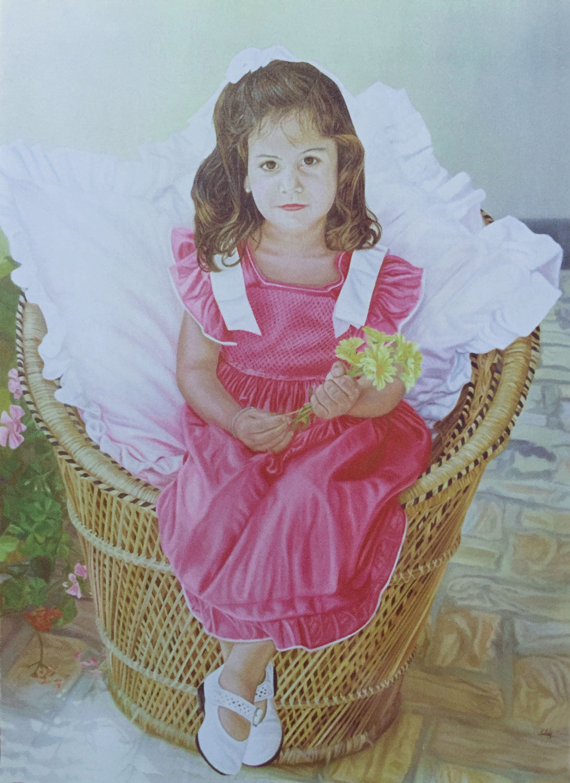 Olga Calado portrait of little girl