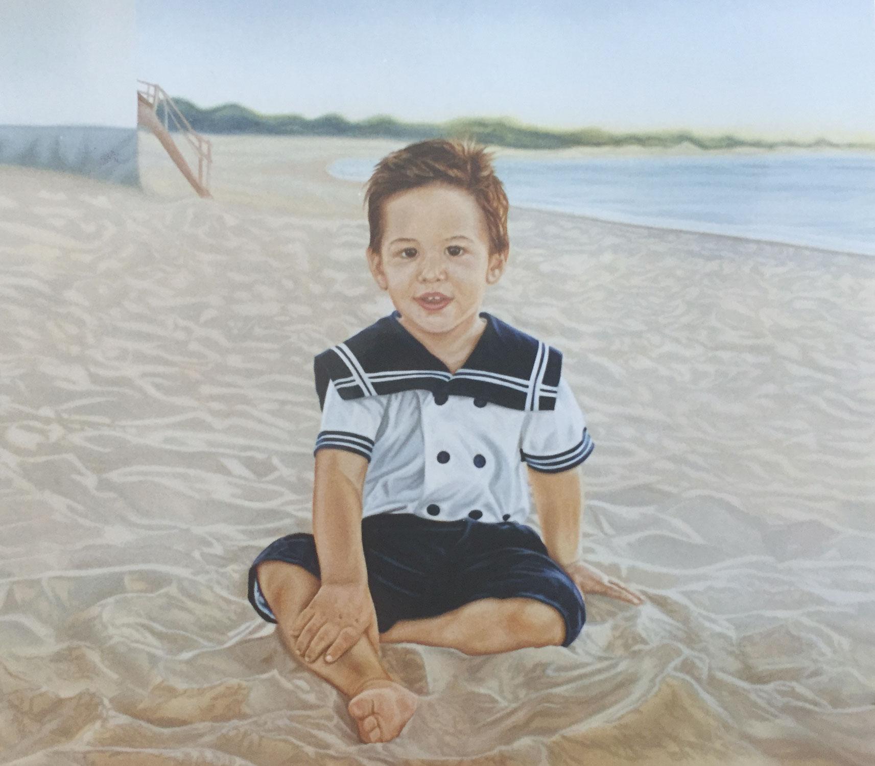 Olga Calado portrait of little boy
