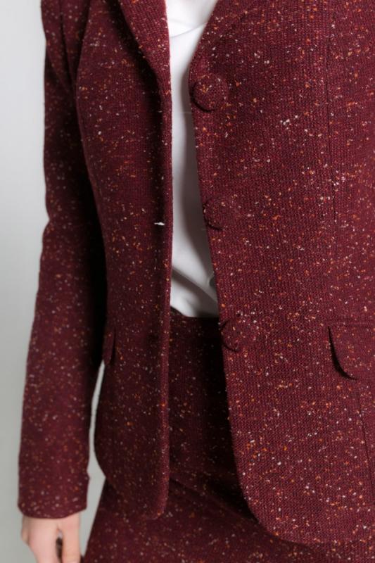 """Бордовый пиджак """"меланж"""""""
