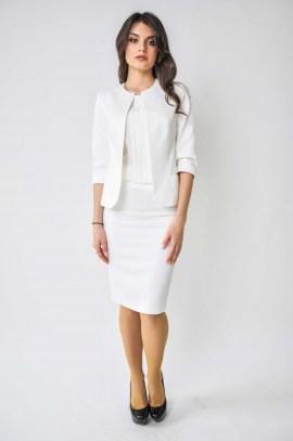 Белый жаккардовый пиджак
