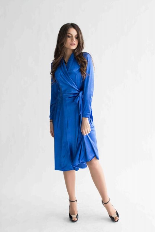 dfd16524373 Голубое платье велюр - Платья комбинезоны