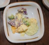 Cabbage salad with cream sauce and walnuts