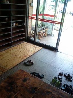 Take your shoes off at a Korean restaurant