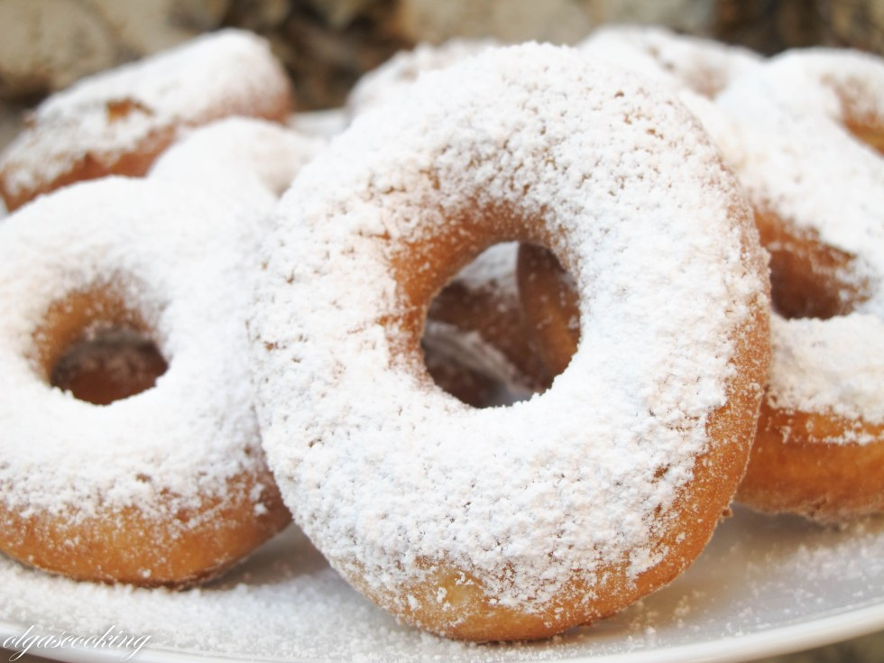Sugar Powdered Doughnuts