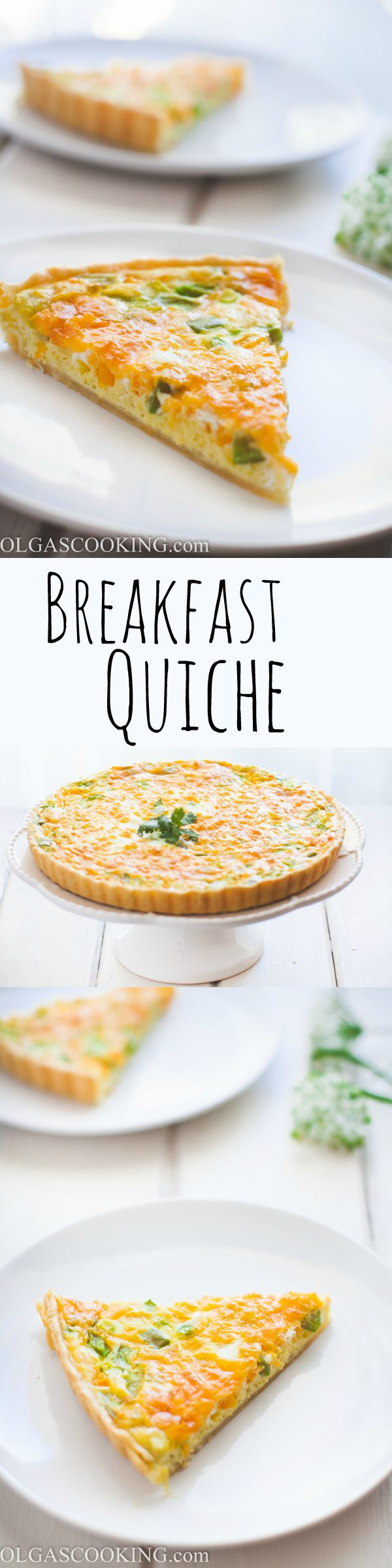 Super duper easy breakfast quiche recipe