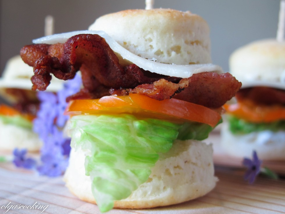 Mini Biscuit BLT Sandwiches