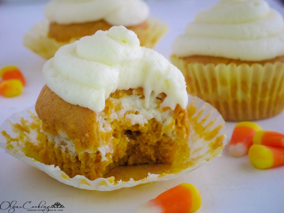 Pumpkin & Cream Cheese Cupcakes