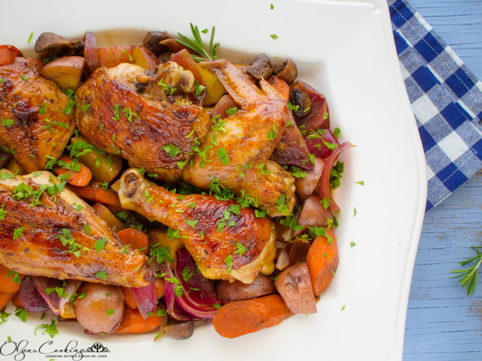 Balsamic Roasted Chicken with Vegetables