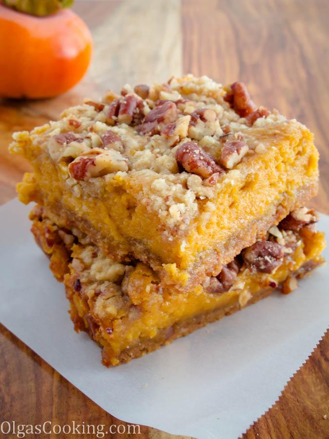 caramel pumpkin bars