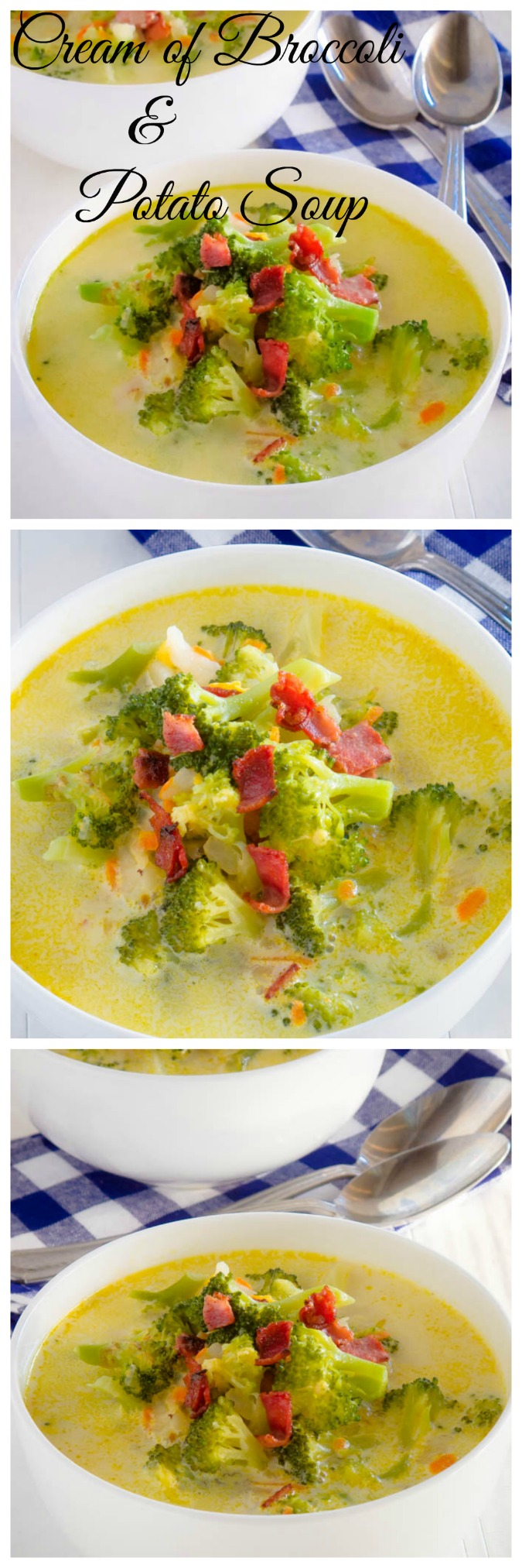 delicious creamy broccoli and potato soup!!
