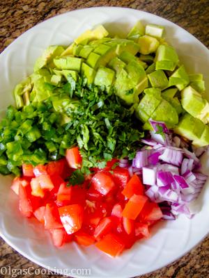 easy to make and light shrimp and avocado salad