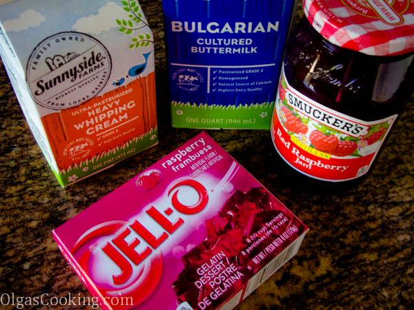 raspberry jello mousse 12