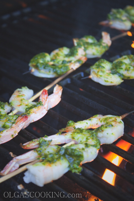 Grilled Pesto Shrimp 3-1