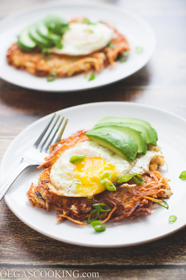 Egg and Potato Latke Breakfast