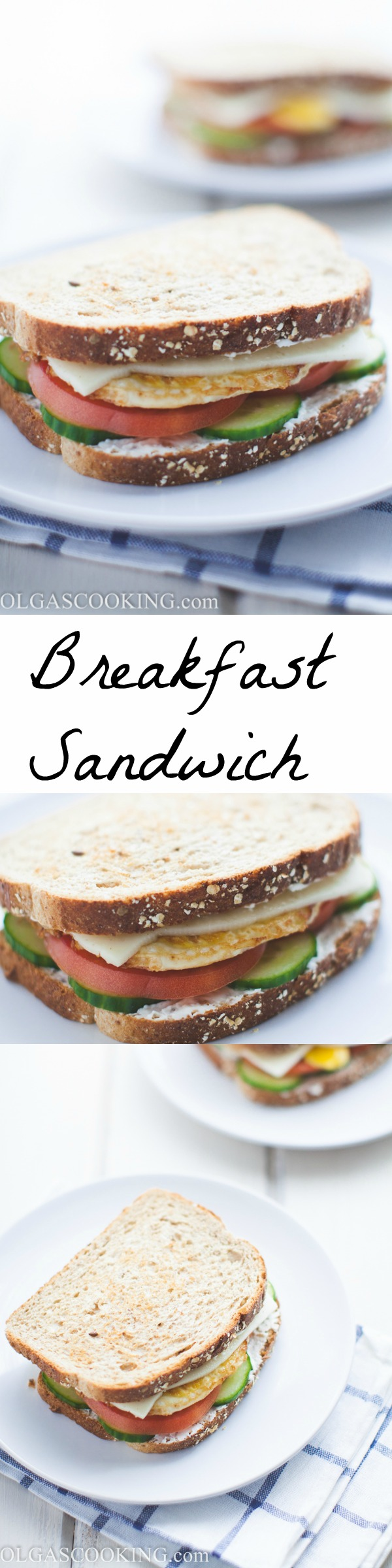 Quick and easy breakfast sandwich...perfect food for when you are on the go
