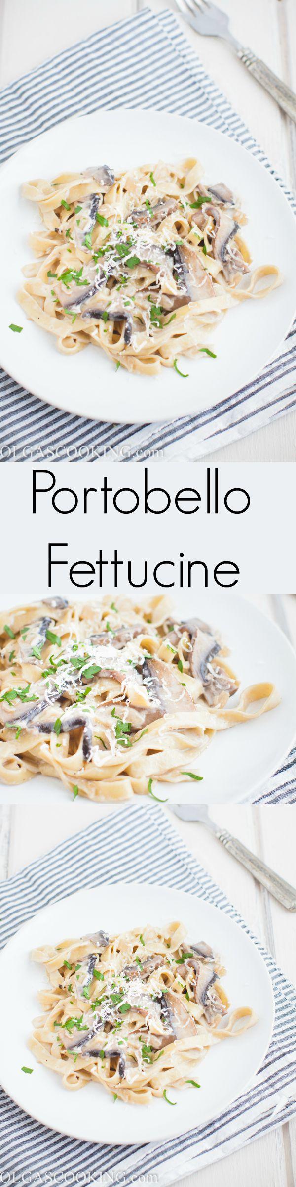 Easy and quick Portobello Fettuccine recipe