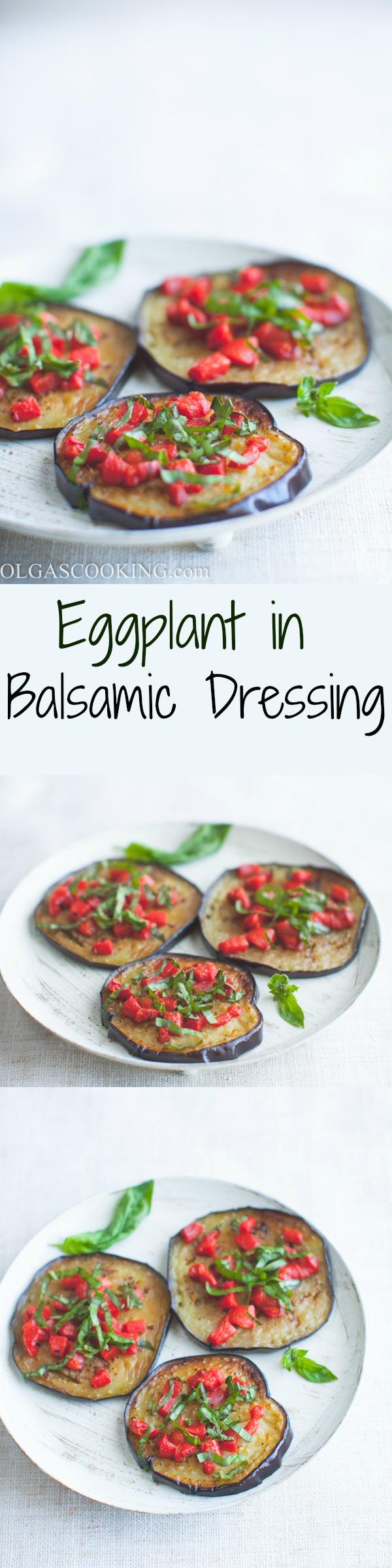 Eggplant in Balsamic Vinegar...easy and yummy side dish