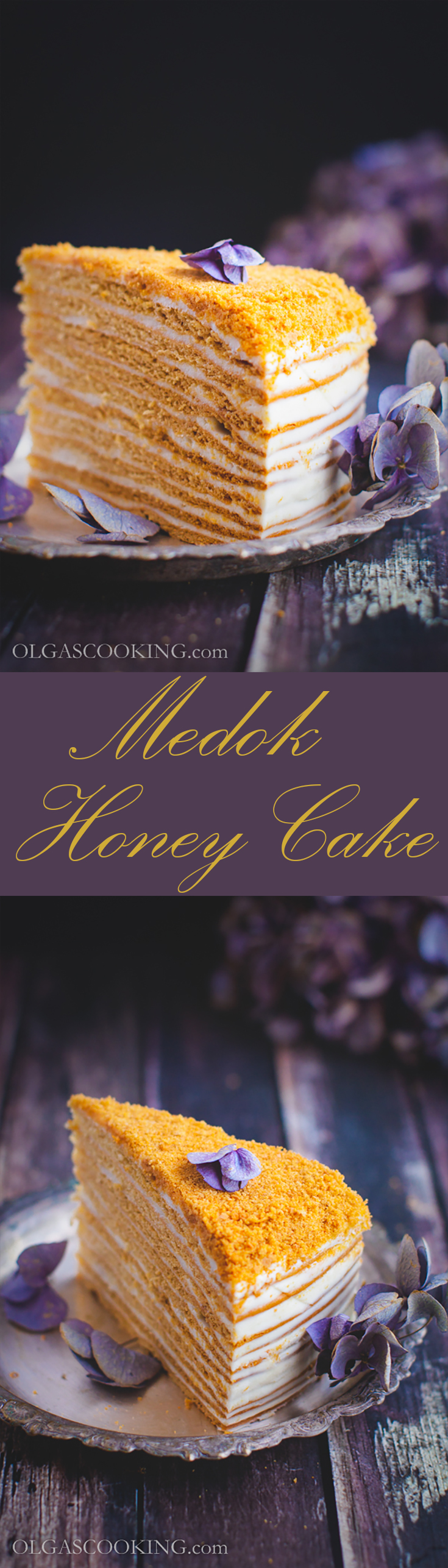 So so happy to share this recipe! Pillowy soft cake that satisfies your sweet cravings! Medok-Honey Cake.