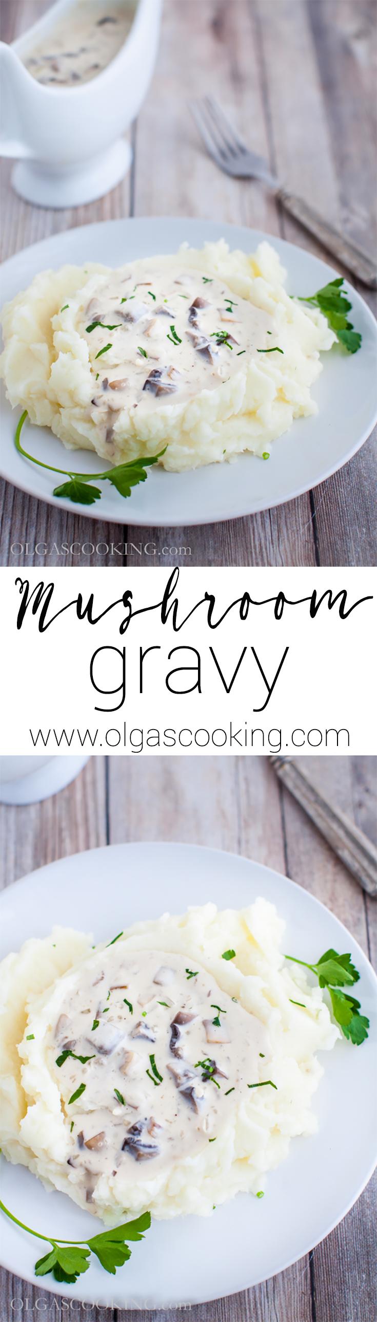 Easy mushroom gravy from scratch