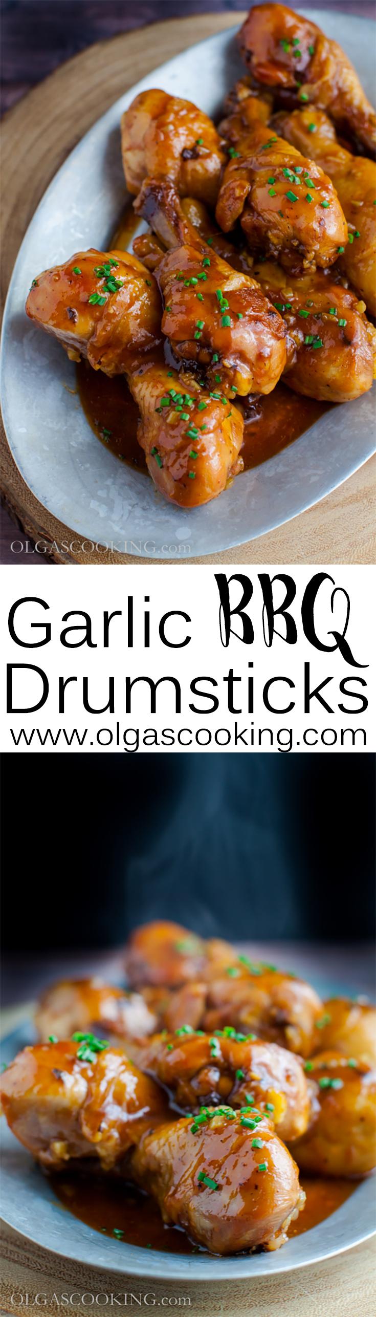 Garlic BBQ Drumsticks Recipe