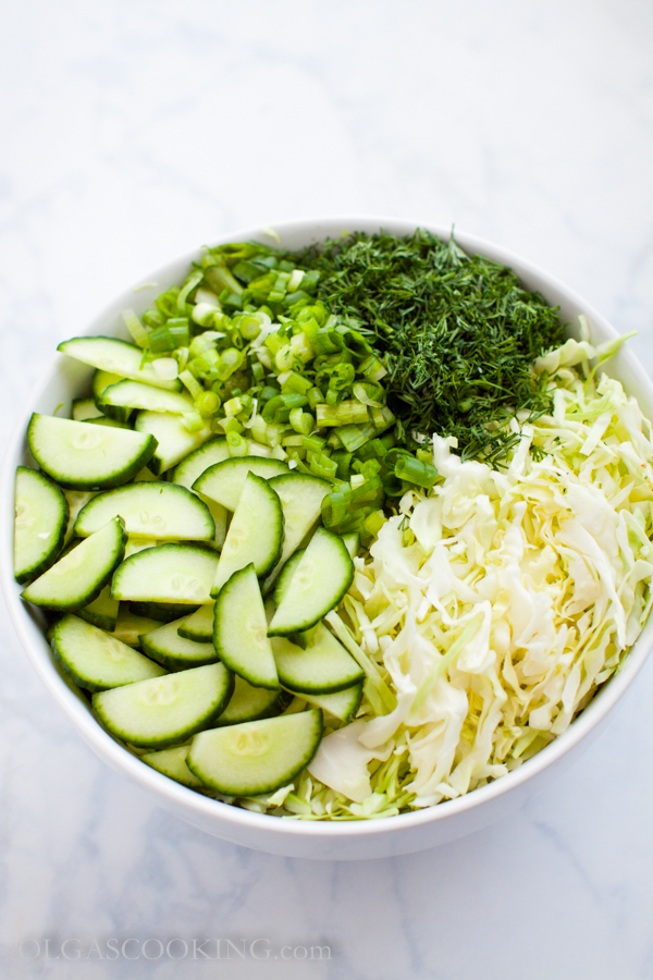 Cabbage Cucumber Salad