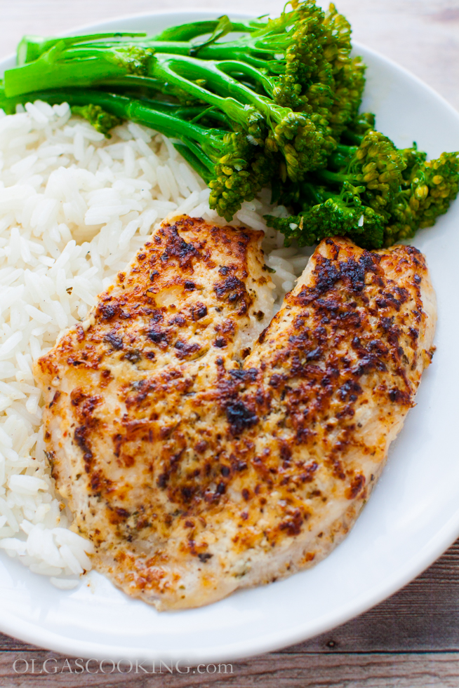 Broiled Herbed Tilapia