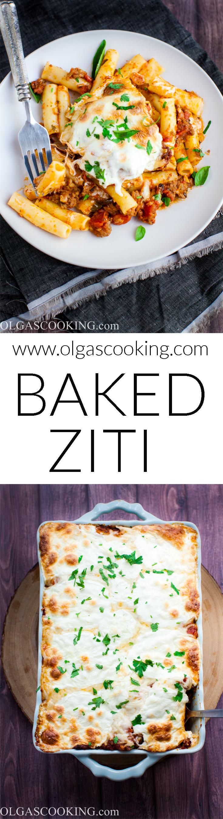 Baked Ziti Recipe...a lazy and delish version of lasagna!