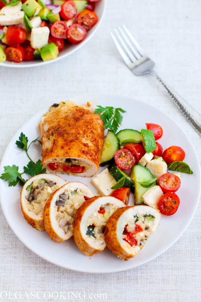 Mediterranean Style Stuffed Chicken Breast