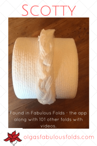 a napkin fold from Fabulous Folds, the app.