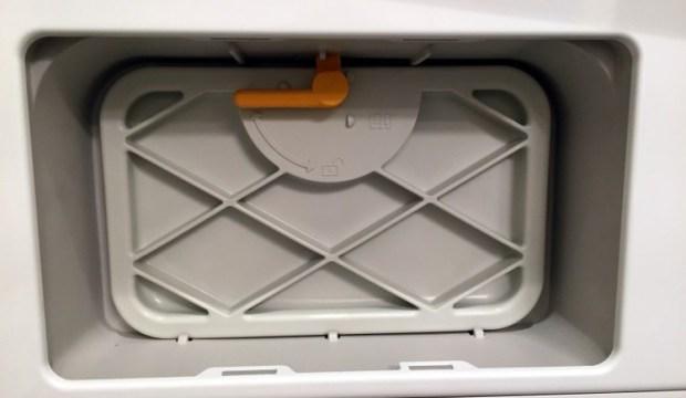 Removing condenser door