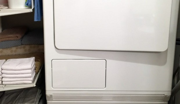 how to clean a condenser dryer - front of dryer