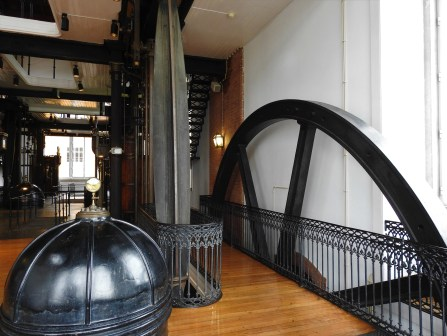 View of the flywheel from the first floor