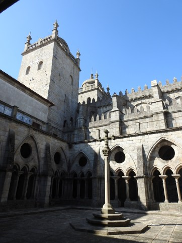 The cloisters and terrace above