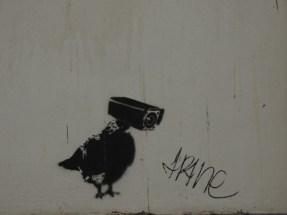 Street art watching you